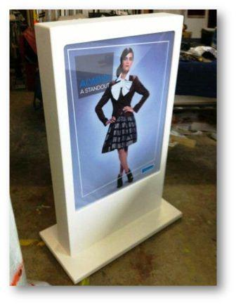 Shop the Mall Corian Poster Stand
