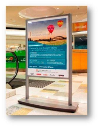 shop the mall poster stand