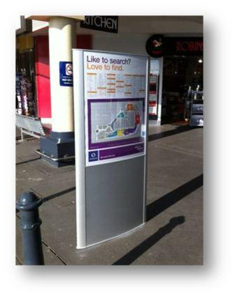 Shop the Mall Outdoor Poster Stand